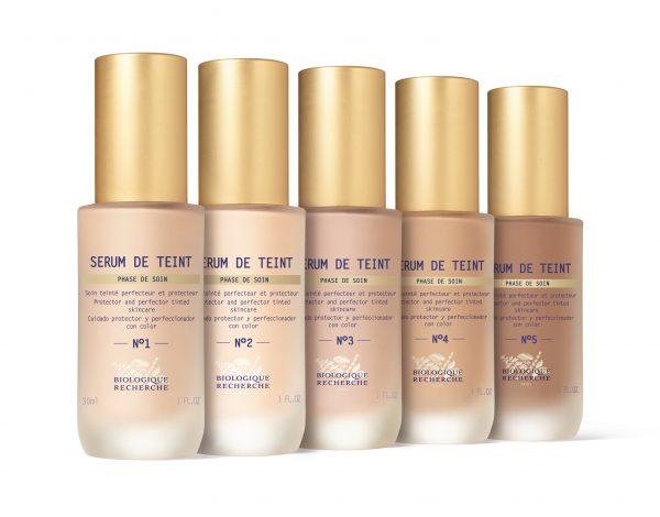 PRVI SÉRUMS DE TEINT BIOLOGIQUE RECHERCHE! 5 nijansi toniranog seruma koji štiti kožu i ispravlja nepravilnosti. Preporučuju se za sva Trenutna stanja kože©