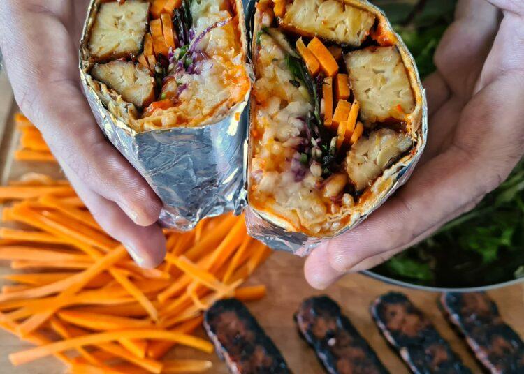 Tortilja s tempehom i povrćem