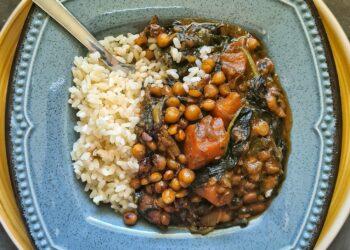 Curry od batata, blitve i slanutka