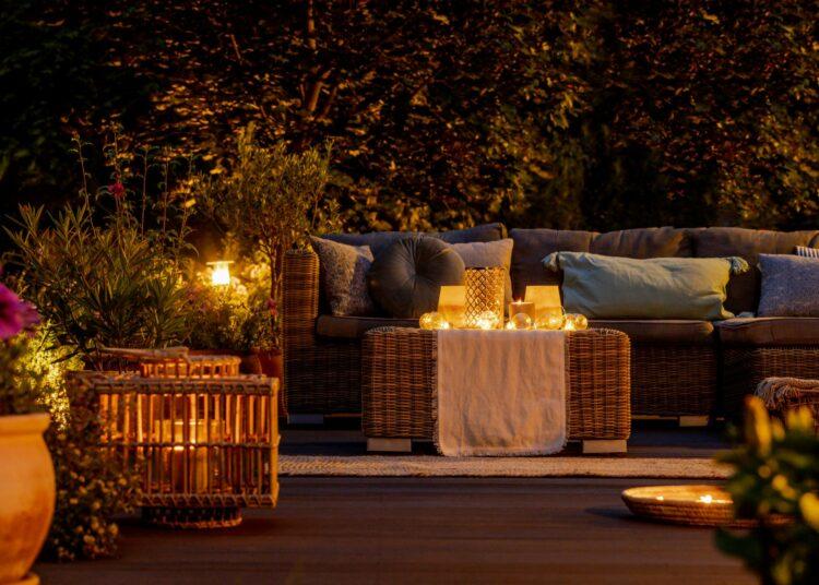lanterna, fenjer, ljetne večeri