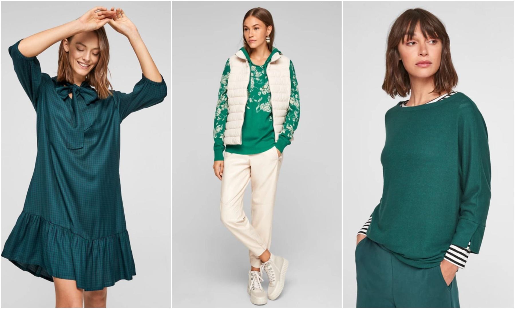 s. oliver, moda, odjeća u zelenoj boji